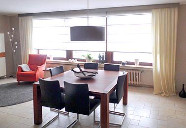 Privatwohnung in Luxembourg: Lieferung und Montage der Fensterdekorationen