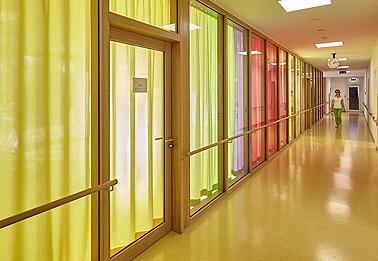 Bauvorhaben Zitha Senior, Luxembourg: Vorhänge im Therapiebereich